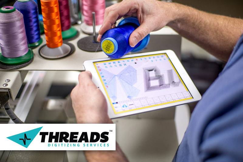 threads digitizing logo